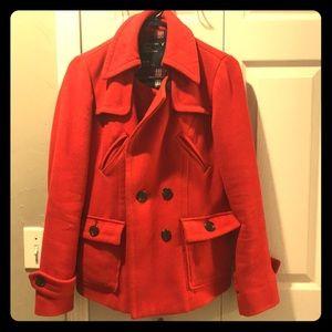 Red American Eagle Pea Coat